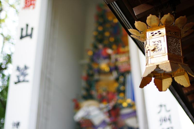 静けさや 山笠終わり 時を待つ  at Hakataku Fukuoka(櫛田神社)