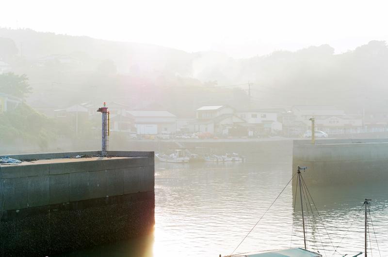 霞たる 夕餉の煙 西日かな at Kashima Nagasaki(有明海)