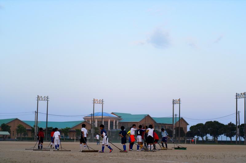 放課後の グランド整備 明日のため  at Kashima Nagasaki