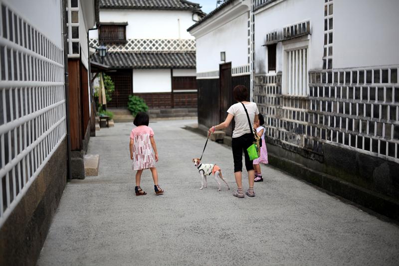 美観地区 お散歩犬も おしゃれなり  at Kurashiki Okayama