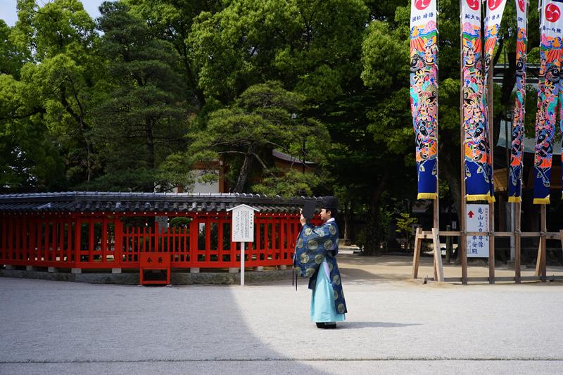 at Higashi-ku Fukuoka(筥崎宮;ハイ チーズ)